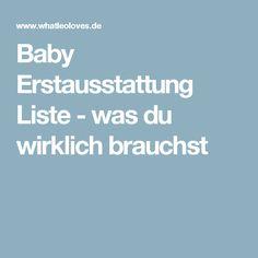 Baby Erstausstattung Liste - was du wirklich brauchst