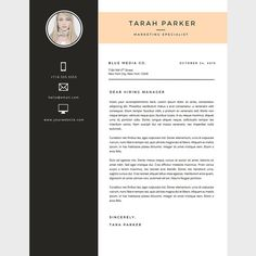 10 best Etsy Favorites images on Pinterest   Resume cover letters     Creative Resume Template   Cover Letter Template for Word   DIY Printable 3  Pack    Marketing Specialist    Modern and Creative Design