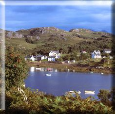 The gorgeous wee town of Badachro in Scotland!