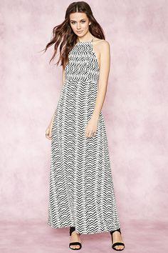 Contemporary Zigzag Maxi Dress