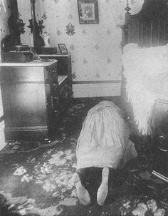 The photo above is of Abby Borden, Lizzie Borden's stepmother, after she was murdered (by someone.....)