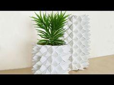 DIY Origami Vase, Himmel& Hölle Vase, Fortune Teller Vase - YouTube