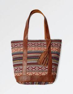 Woven Multi Stripe Tote Bag, Bags and Purses | FatFace.com