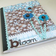 Journal Altered Composition Book  Bloom by cinnamonspice on Etsy, $15.00