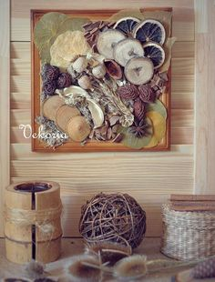 composition on the wall  Wreath Fall Decor  Autumn by Vekoria