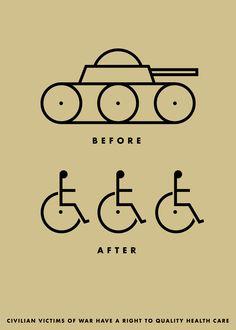 """Before/After"" by Joe Scorsone, Alice Drueding. (United States). Good50x70. 2008, War Victims brief."