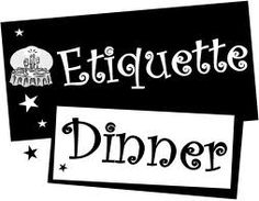 LDS Young Women and Young Men combined activity- Etiquette Dinner- table setting and ideas