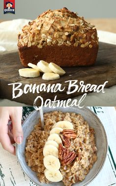 Banana bread & Quaker® oatmeal all in one? Yes, please! Just stir in mashed bananas and toasted pecans. Top with yogurt, sliced bananas, and halved pecans for extra flavor.