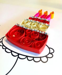 paper quilling - cake