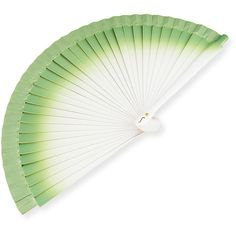 Fern Fans Small Gradient Hand Fan (290 RON) ❤ liked on Polyvore featuring home, home decor, fans, standing fans, fan, green and jewelry charms