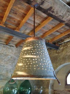 Rustic Metal Olive and grape bucket basket lamplighting by Eskiden, $85.00
