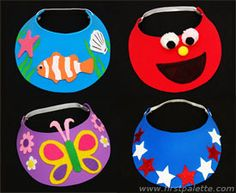 Craft Foam Visor craft. Kids will love to decorate and wear these. It will also keep the sun out of their eyes when playing outside this summer.