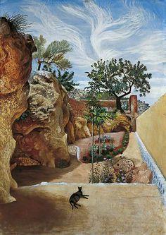 A Garden, Mallorca, Spain x John Aldridge Your Paintings, Landscape Paintings, John Aldridge, Essex Countryside, Spa Art, Tate Gallery, Cat Sketch, Galleries In London, Albert Museum