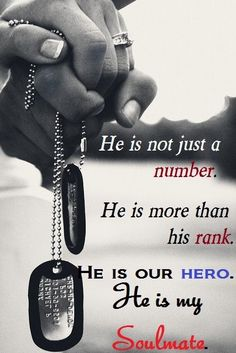 He is not just a number. He is more than his rank. He is our hero. He is my SOULMATE!