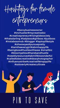 Hashtags for female business owners - Inhaltsmarketing Hashtags Für Instagram, Tips Instagram, Instagram Marketing Tips, Insta Hashtags, Social Media Detox, Social Media Content, Social Media Tips, Social Media Marketing, Mobile Marketing