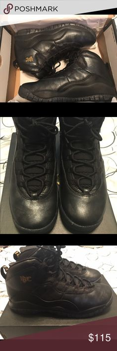 brand new d8593 e3f3a Nike Air Jordan Retro 10 NYC Edition Size 6.5y Worn once comes with OG Box