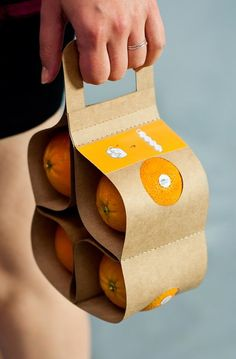 Efficient Fruit Packaging - VitaPack Makes It Easy to Transport a Pack of Oranges Home (GALLERY)