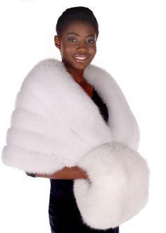 NEW-White-Fox-Fur-Muff-White-Fur-Handwarmer-Muff