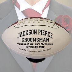 Personalized Groomsmen Football With Custom Message