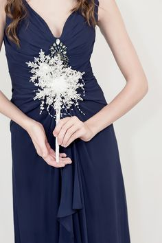 Snowflake Bridesmaid Bouquet - Snowflake Bouquet by Ky Kampfeld
