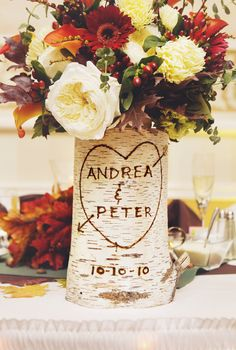 Very pretty idea for centerpieces or accents