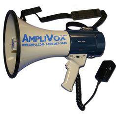 Megaphone with detachable microphone http://www.ampli.com/megaphones/602M-Mity-Meg-Plus-Megaphone.aspx