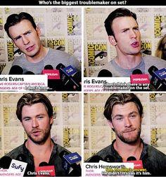Hahahahaha I love Chris Evans