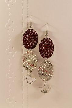 Boucles d'oreilles pendantes longues et légères en aluminium et métal argenté…