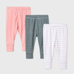 Coloured Leggings, Cloud Island, Girl Bottoms, Pull On Pants, Everyday Look, Simple Dresses, Pink Grey, Fitness Fashion, Kids Outfits