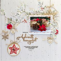 Layout by Hajnal Suhai Scrapbook Pages, Scrapbooking Layouts, Winter Holidays, Baby Photos, Advent, Christmas Wreaths, Mood, Holiday Decor, Cards