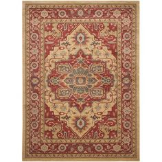 Safavieh Mahal Red/ Natural Rug (9' x 12') - Overstock™ Shopping - Great Deals on Safavieh 7x9 - 10x14 Rugs