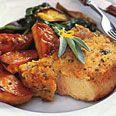 Baked Pork Chops with Parmesan-Sage Crust