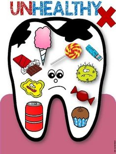 Dental Health Sorting Activity and Mini Posters - Santé bucco-dentaire Dental Kids, Free Dental, Dental Care, Health Activities, Sorting Activities, Activities For Kids, Dental Facts, Dental Humor, Dental Posters