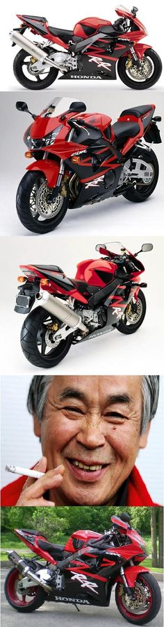 Honda CBR 954. The bike, the chain smoking designer Tao Baba, created a motorcycling revolution. Blade with the correct size of exhaust.