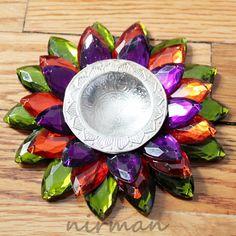 Lotus Flower Floating Tealight Candle holder  Diya/ Diva by Nirman, $18.00