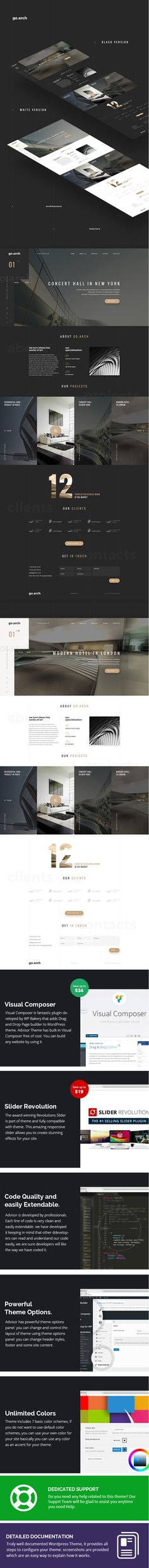 go.arch - Architecture & Interior WordPress Theme #building #construction #decor • Download ➝ https://themeforest.net/item/goarch-architecture-interior-wordpress-theme/18711712?ref=pxcr