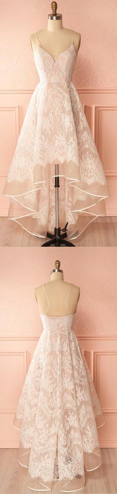 Pink A Line Asymmetrical Sweetheart Spaghetti Sleeveless Open Back Prom Dress,Party Dress P168#A-linedress#openback#promdress#partydress#pink#seetheart#asymmetrical#openback#pink
