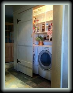 Laundry Closet needs a light. Helps keep it looking fresh and not dingy.