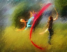 Joy   Prophetic Worship Art praiseflag.com streamers (canvas prints coming soon)
