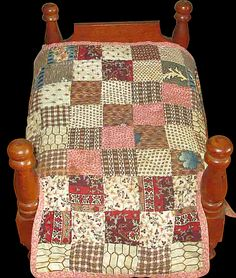 Old Doll Bed and Doll Quilt