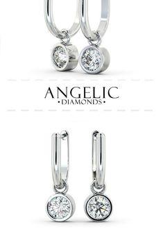 1240b6efdda These drop diamond earrings are classic