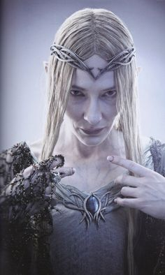"""mistergandalf: """" Galadriel's Dol Guldur costume From The Hobbit: The Battle of the Five Armies Chronicles: The Art of War """""""