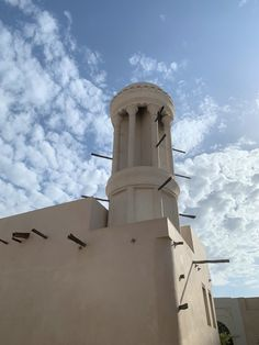 Historic architecture meets a contemporary vision at Al Bait Sharjah where you can find the last circular wind tower of the United Arab Emirates. Sharjah, Historic Architecture, Natural Building, United Arab Emirates, Building Ideas, Bait, Old Houses, Tower, Traditional