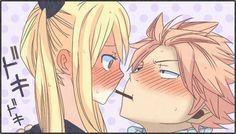 nalu (natsu x lucy) doki doki lets play pocky Natsu Fairy Tail, Fairy Tail Kids, Art Fairy Tail, Fairy Tail Comics, Image Fairy Tail, Fairy Tale Anime, Fairy Tail Love, Fairy Tail Guild, Fairy Tail Couples