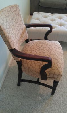 Thrifty Treasures: Upholstering a chair ... great tutorial that takes you through every step ...