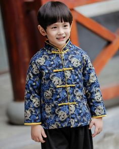 c0ee2a93cd Traditional Chinese Long sleeve Tang padded Clothing for Boys