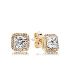 Pandora Gold Timeless Elegance Earrings 250327CZ Sale