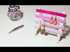 DIY Déco Porte boucles d'oreilles/bijoux avec des bâtons de glaces/bois - YouTube