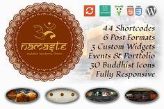 Namaste - Buddhist WordPress Theme by Webzakt on Creative Market
