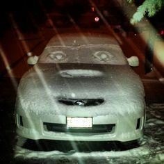 Subbie in the snow @wrxser16